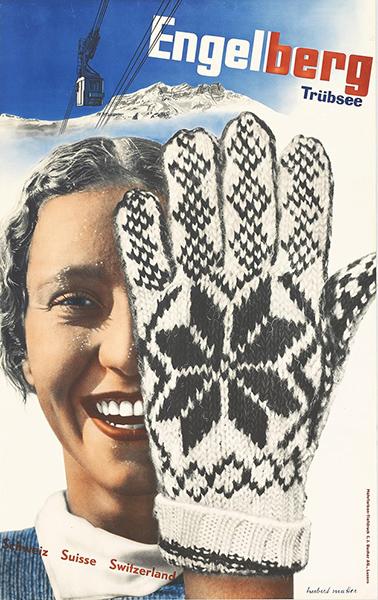 《エンゲルベルク・スキー場》ポスター ヘルベルト・マター 1935年 竹尾ポスターコレクション
