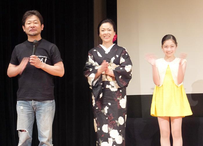左から近兼監督、とみずみほ、古和咲紀