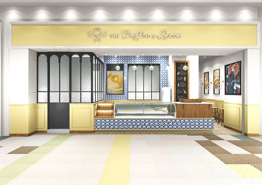 店舗のイメージ図。生地をイメージした淡い黄色に