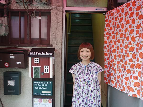 マルカの田村さんがお店番をしています
