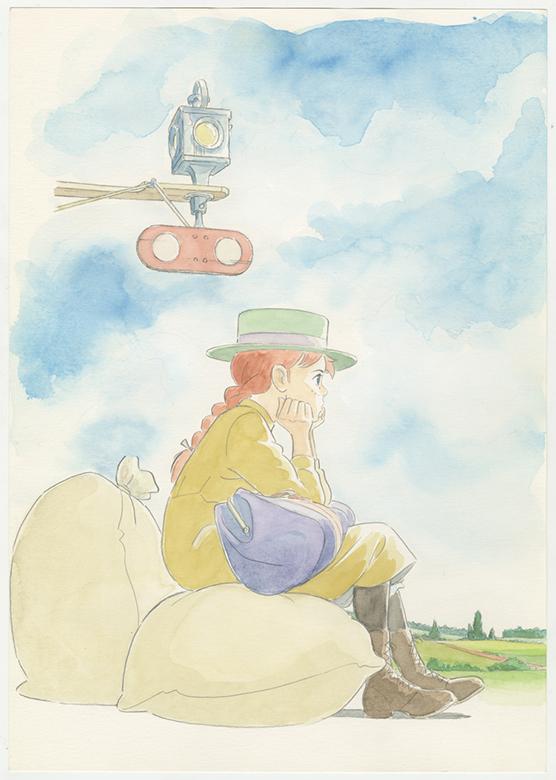 「赤毛のアン」LDボックス用イラスト 1992年 © NIPPON ANIMATION CO.,LTD