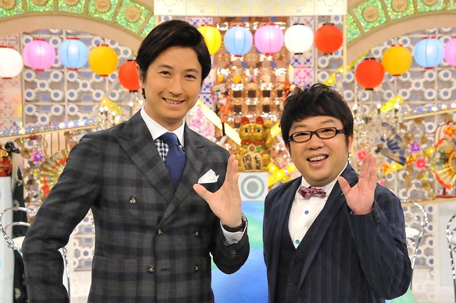 番組MCをつとめた谷原章介(左)と、天野ひろゆき(キャイ〜ン)