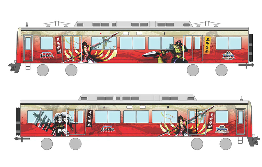 「戦国BASARA」のキャラクターで装飾した南海電鉄「天空」(イメージ)