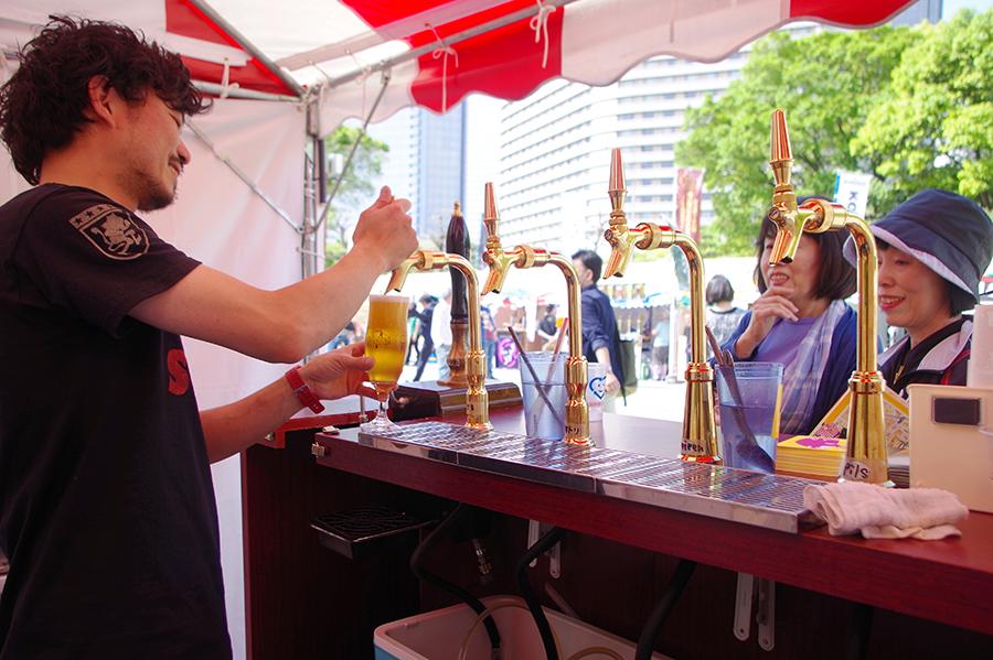 クラフトビールの大定番、大阪の「箕面ビール」のブース