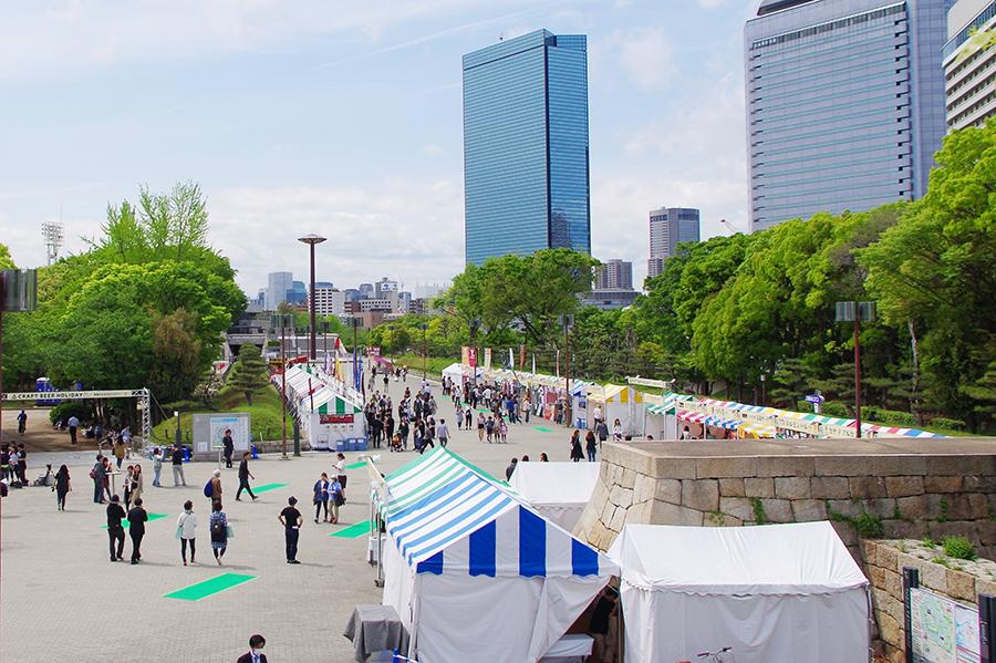 『大阪城クラフトビアホリデイ』会場となるJR大阪城公園駅前広場