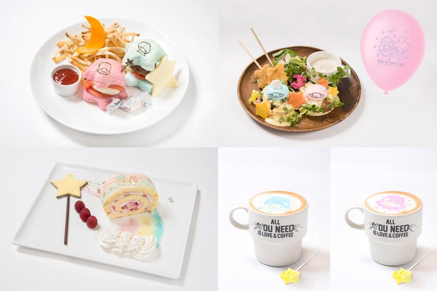 「THE GUEST & cafe diner」ではキキララをテーマにしたメニューが登場。グッズ販売もあり