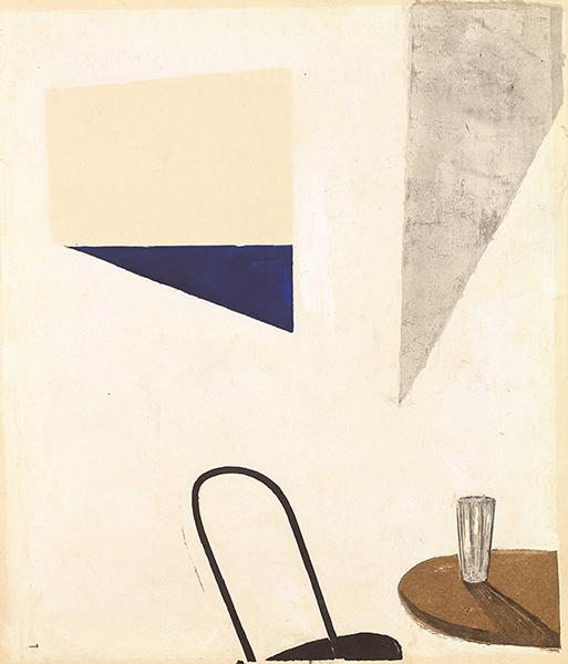 恩地孝四郎《海の見える窓》1940 木版、紙 養清堂画廊