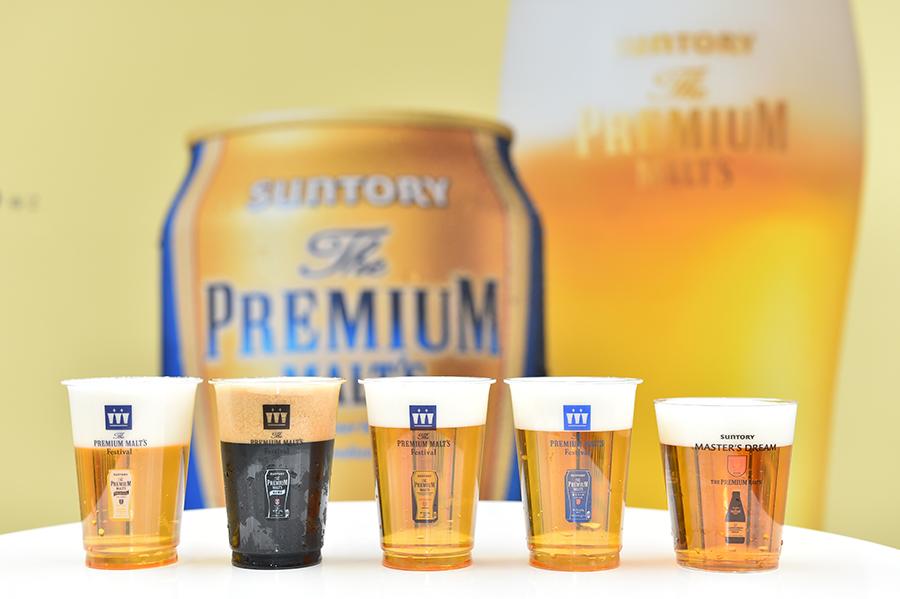 飲み比べが楽しめる樽生5種の「ザ・プレミアム・モルツ」