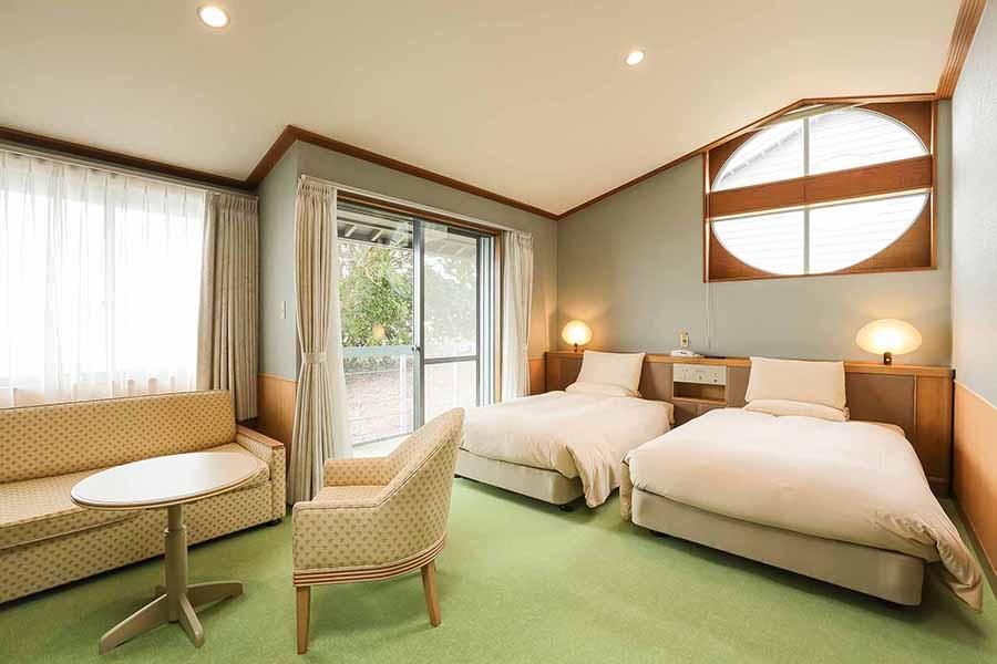 「ドギーヴィラ」315室は、隣の316号室とコネクティングできるタイプなので、家族やグループでの利用可