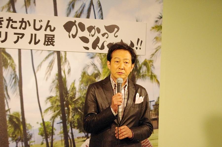 「OSAKAあかるクラブ」メンバーの俳優・辰巳琢郎も駆けつけた
