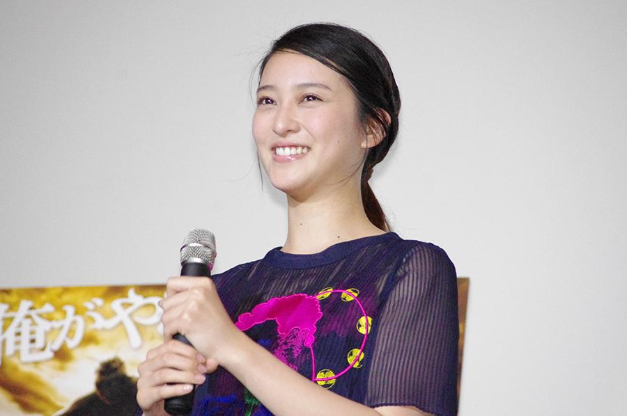 「テラフォーマーズ」の舞台挨拶に登場した女優・武井咲