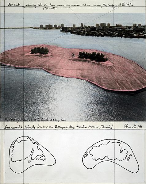クリスト《包囲された島》1981年 ©Christo 1982