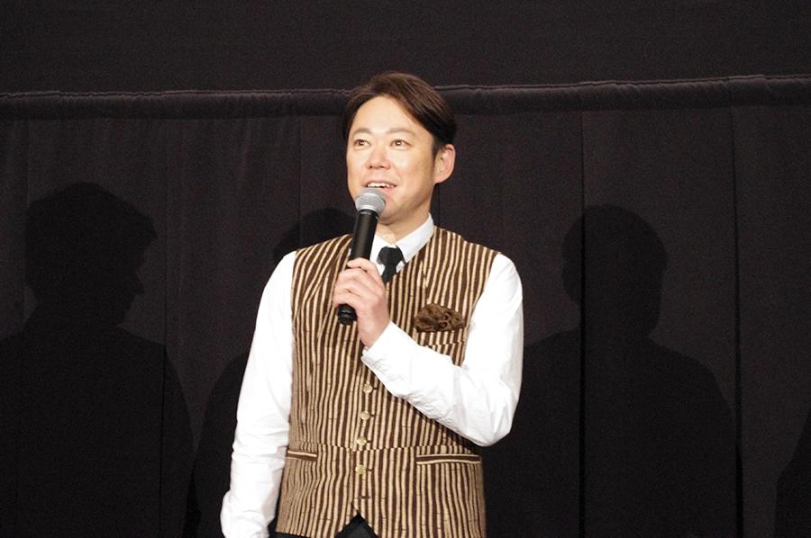 『殿、利息でござる!』の完成披露試写会に登場した主演の阿部サダヲ(8日・大阪市内)