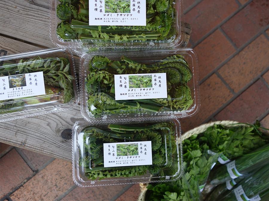 福原さんが選んだ生産者の野菜だけが揃う。旬のものしか並ばないので、気になったものは即買いを