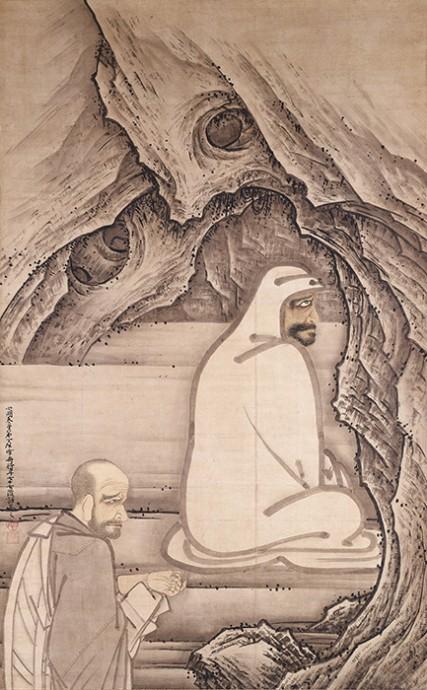 国宝 慧可断臂図 雪舟等楊筆 室町時代 明応5年(1496) 愛知・齊年寺 後期展示(5/3〜22)