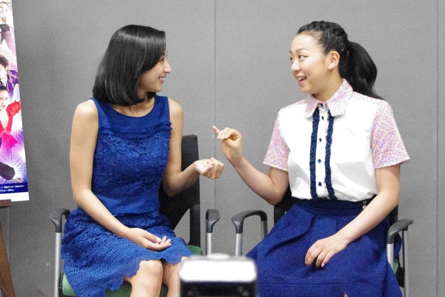 仲の良い浅田舞、真央姉妹