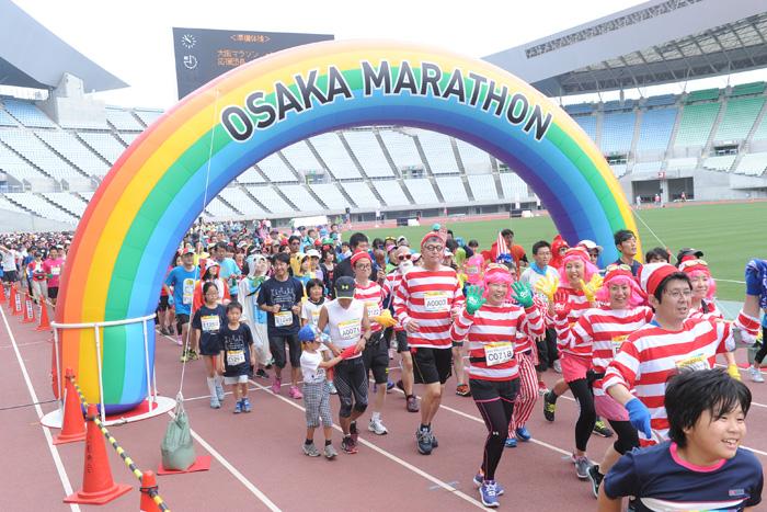 2015年開催の「大阪マラソンファンラン」
