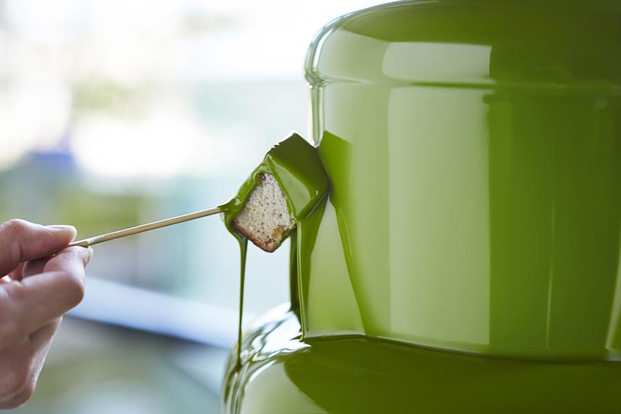 抹茶チョコレートのファウンテンは、ハイアット リージェンシー 大阪で初登場