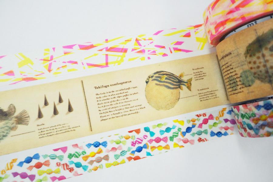 飴ちゃん、ふぐ図鑑など大阪ならではの限定テープが人気!