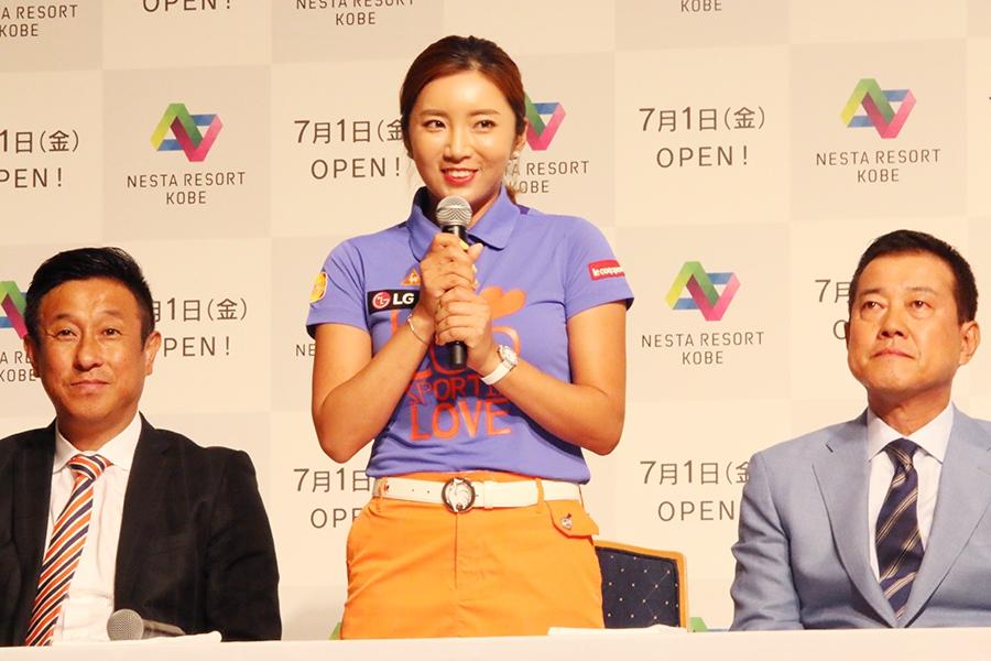 女子プロゴルフ界の人気を牽引するひとり、イ・ボミ選手