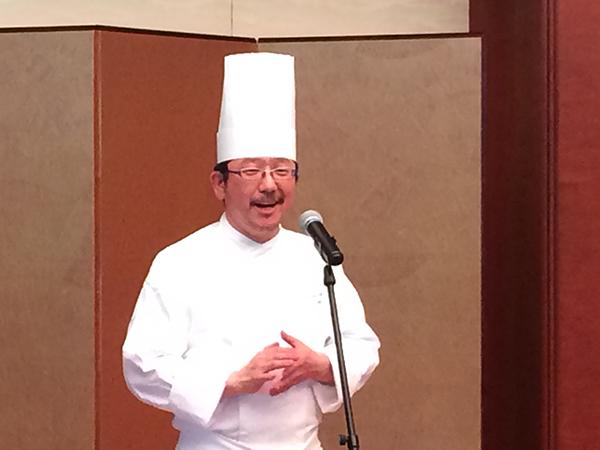 料理を監修するシェフ、石井之悠さん