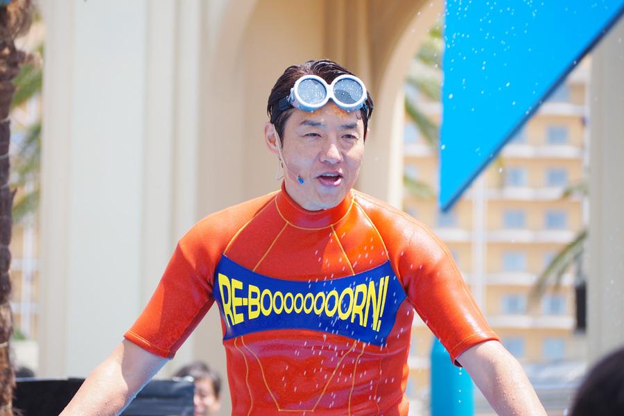 15周年の夏イベントの開幕宣言に登場した、リ・ボーン大使の松岡修造