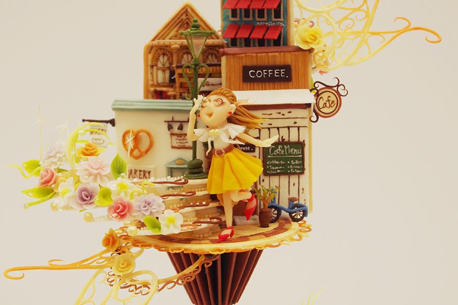 「デコレーションケーキコンテスト」Aクラス第1位、兵庫県知事賞に輝いた「菓樹工房ユーカリプティース」の石床真弓さんの作品