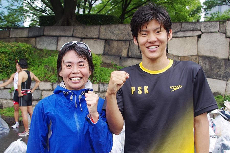 優勝した澤瀉大樹さんと武友麻衣さん