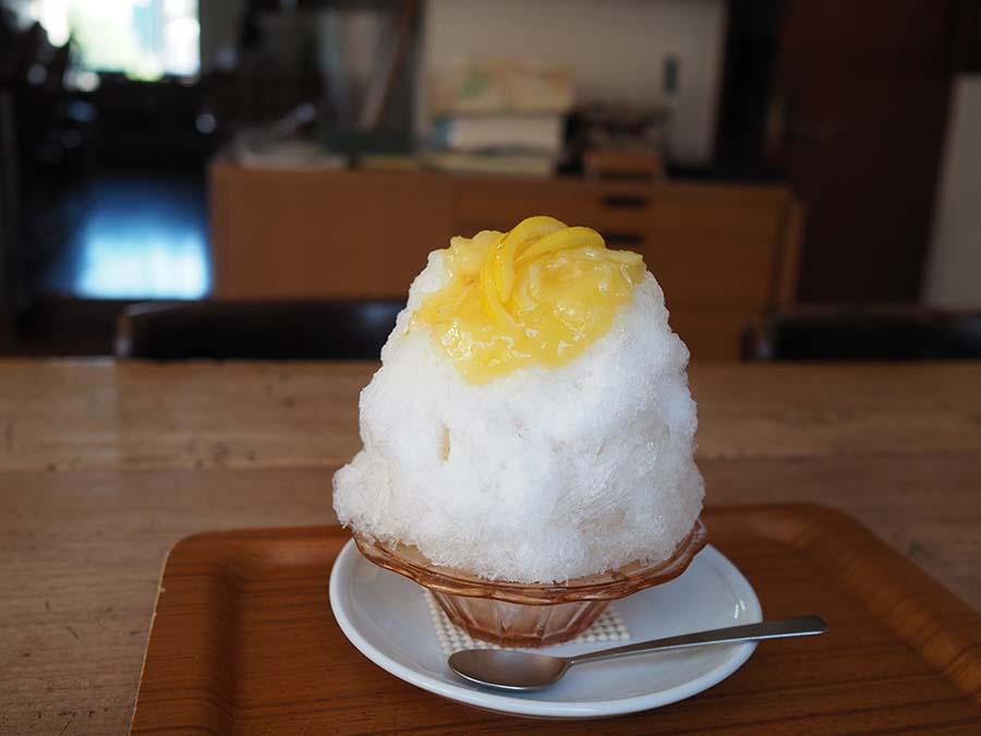 一年中、季節ごとのかき氷を楽しめる「日本茶カフェ一日 ひとひ」