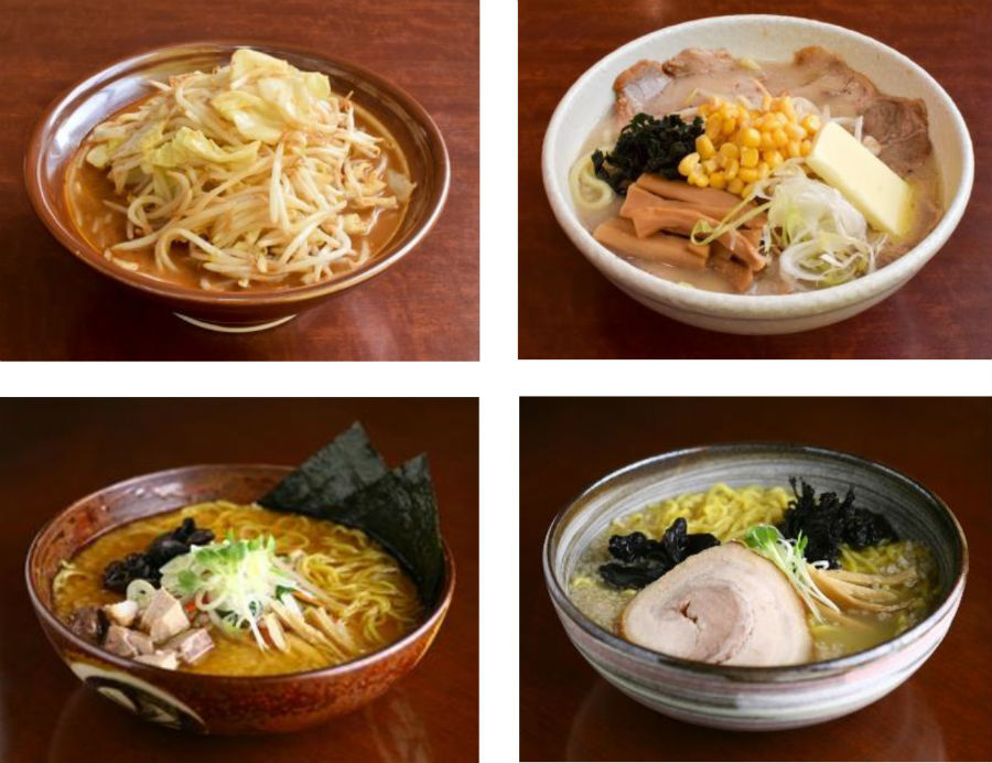 新潟を代表する濃厚みそラーメンの「東横」(写真上)と、濃厚みそスープにもよく絡むもっちり縮れ太麺の札幌「白樺山荘」