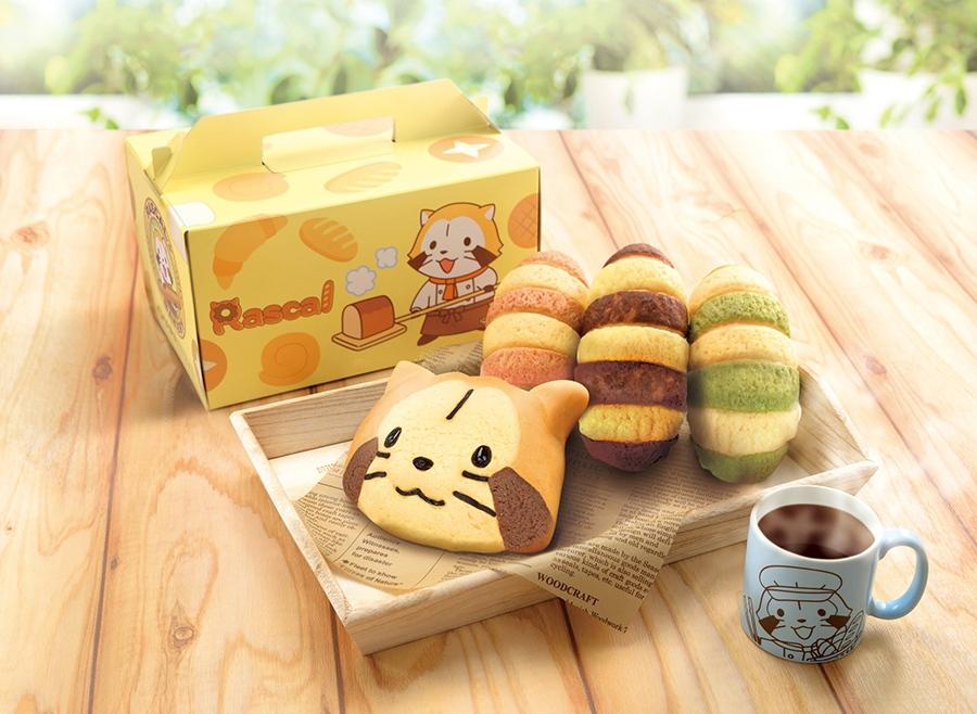 特製ボックスにパンやオリジナルマグカップが入った「スーベニアセット」(全3色・1,620円)
