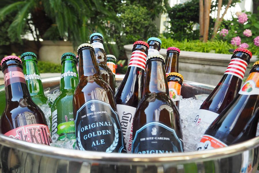 ビールは生ビール、クラフトビール、ベルギービール、国産ビールなど多数、これが90分飲み放題