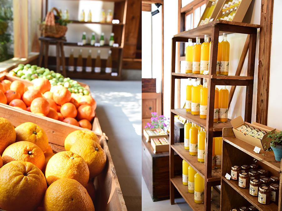 和歌山でとれた柑橘を使ったアイテムがずらり。珍しいものでは、みかん七味も