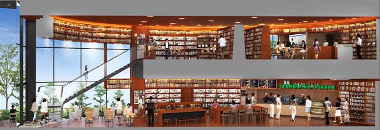 関大新キャンパスに出店する「TSUTAYA BOOK STORE」(イメージ)