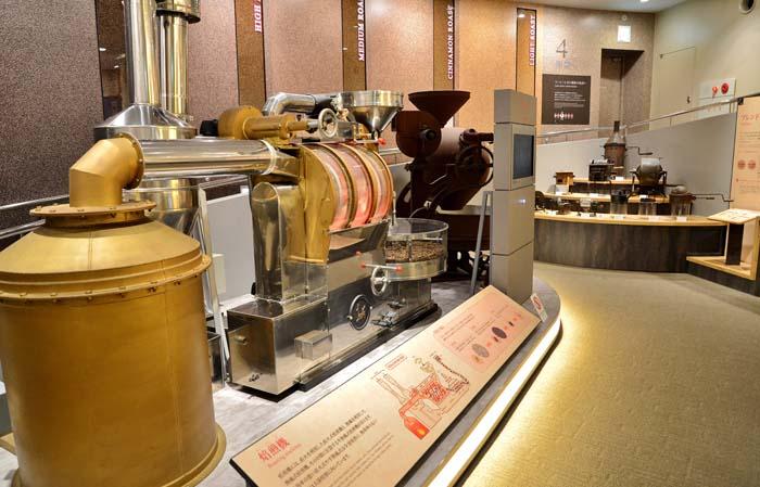 「UCCコーヒー博物館」の展示の様子