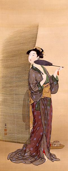 上島鳳山 六月青簾 十二月美人図より 1909年