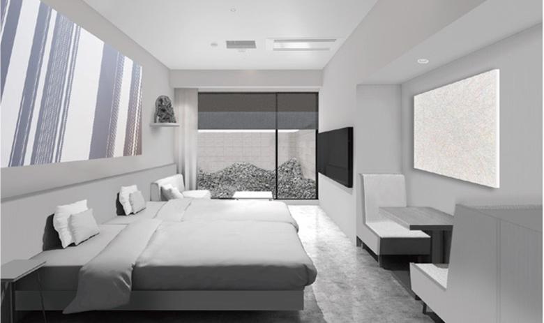 名和晃平が手掛ける「ホテル アンテルーム 京都」のコンセプトルーム(イメージ)