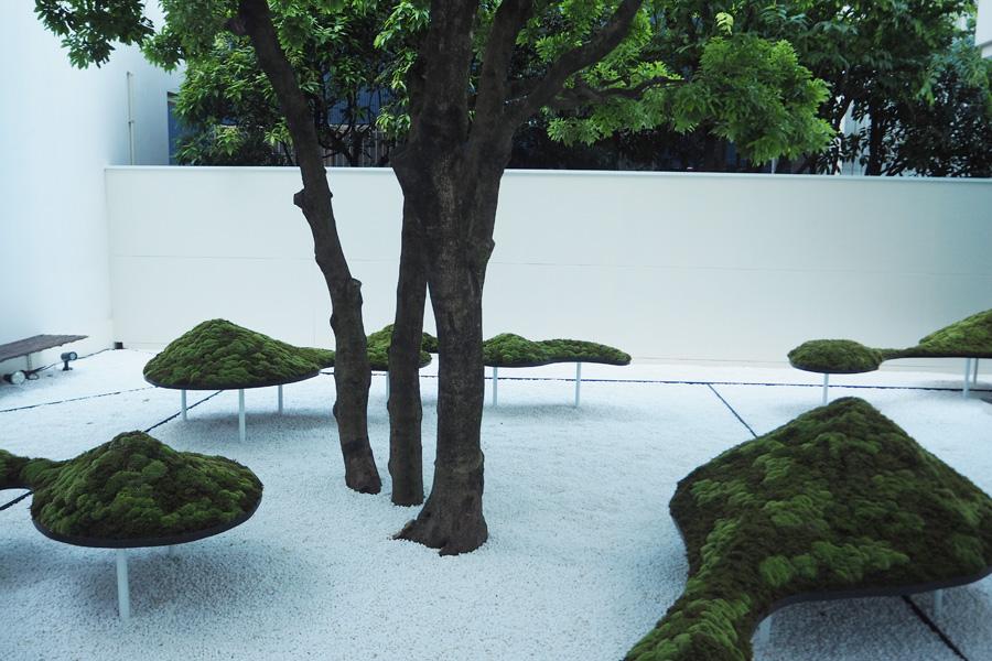 入り口からすぐ見えるのは現代版石庭の「京都鳥瞰図」