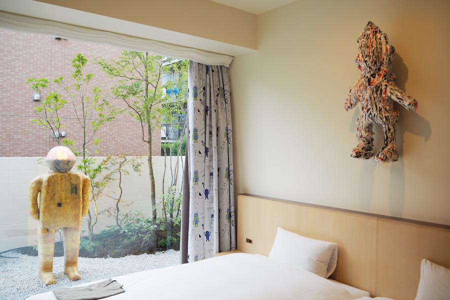 1階の客室は「庭」と「小上り」でモダンな和を感じられるガーデンツイン