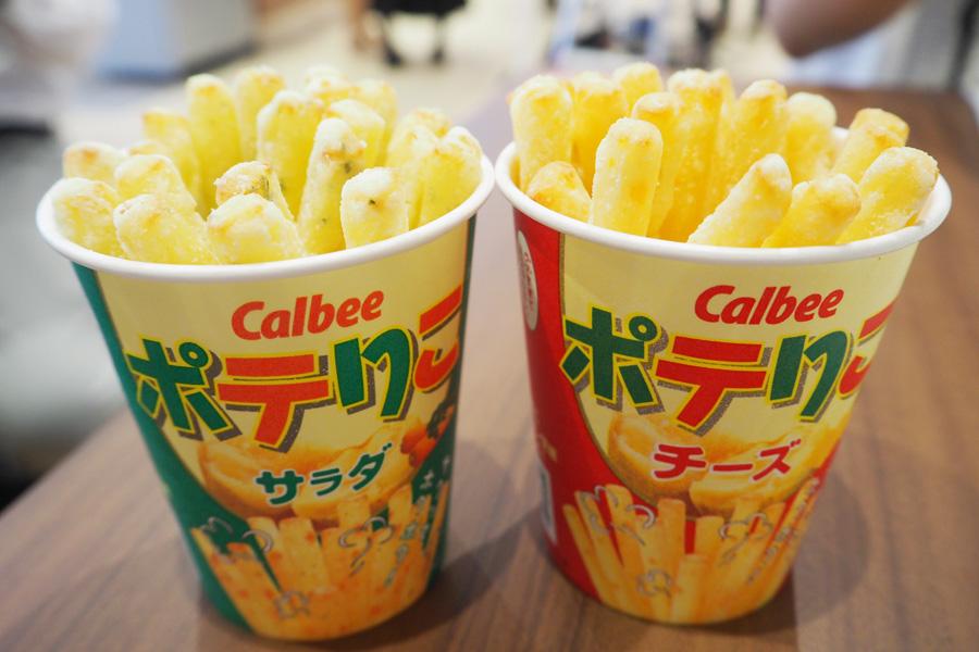 ほくほくの「ポテりこ」(サラダ&チーズ)各310円