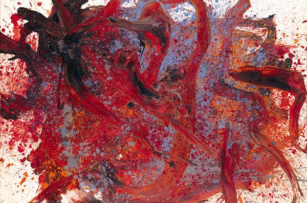 白髪一雄《天暗星青面獣》1960年 兵庫県立美術館(山村コレクション)