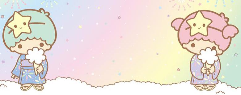 浴衣姿の「キキ&ララ」イメージ