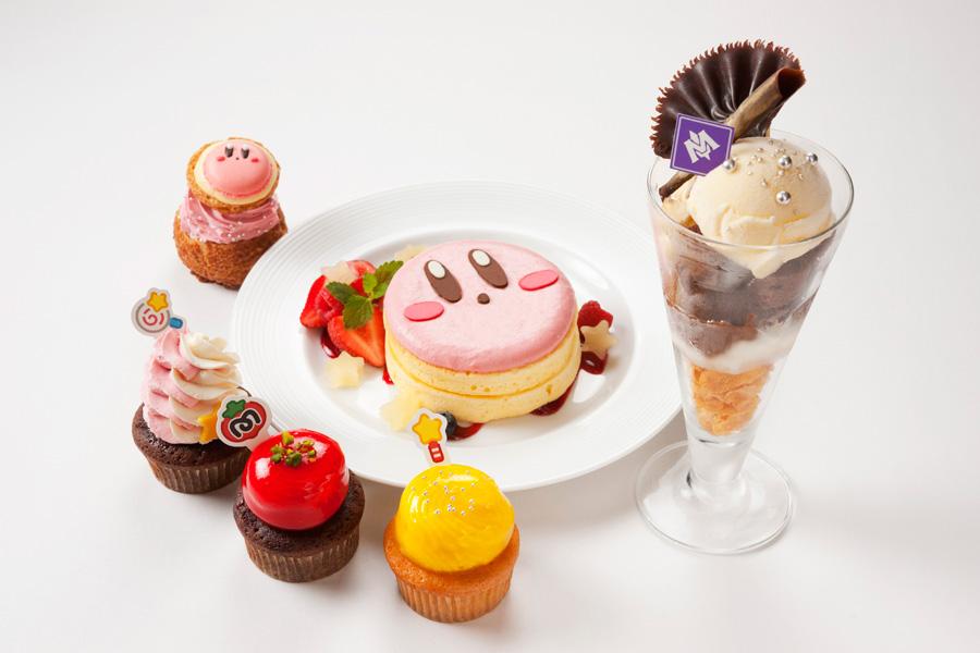 「カービィのふんわりパンケーキ」「メタナイトが夜な夜なこっそり食べてるパフェ」「むてきキャンディー カップケーキ」など