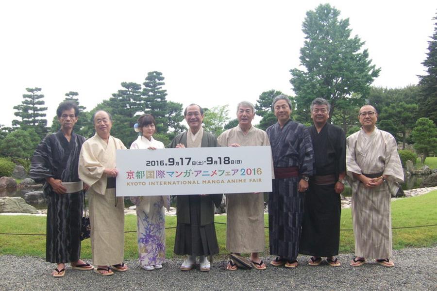 京都らしい場所でアニメイベントのアピールがしたいと発表会見は二条城内の「香雲亭」で開催された