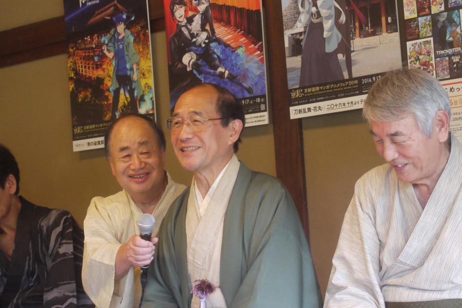 門川大作京都市長をはじめ、KADOKAWAの角川歴彦会長、京都国際漫画ミュージアムの上田修三事務局長など、そうそうたるメンバーが実行委員を務める