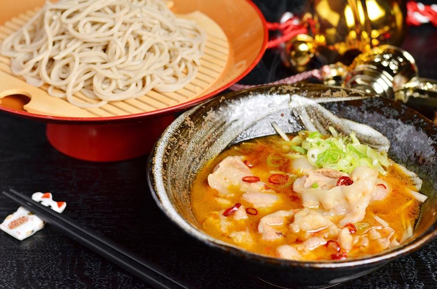 「ピリ辛豚汁のつけ蕎麦」1,100円