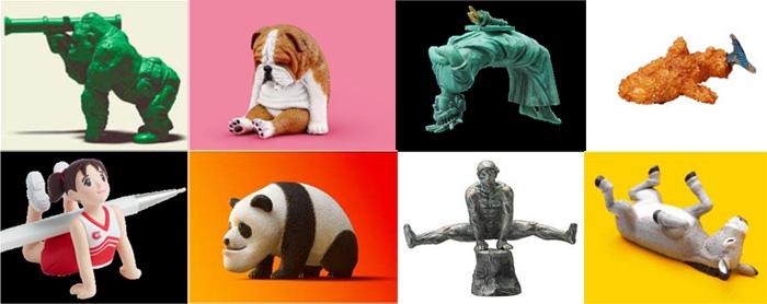 寝落ちしたイヌや進化の過程でアゴの発達したパンダなど、収集欲を刺激する「パンダの穴」の商品たち