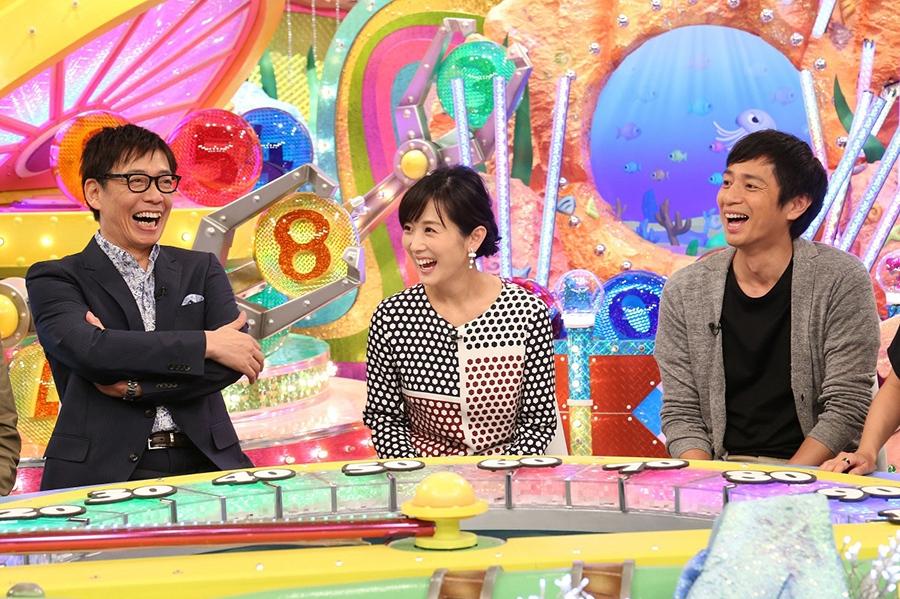 産休から番組に復帰した高島彩(中央)