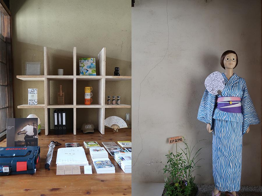 「グルーヴィジョンズ」が手掛けるアイテムから、京都や世界の品々まで。右がチャッピー、夏なので浴衣姿に