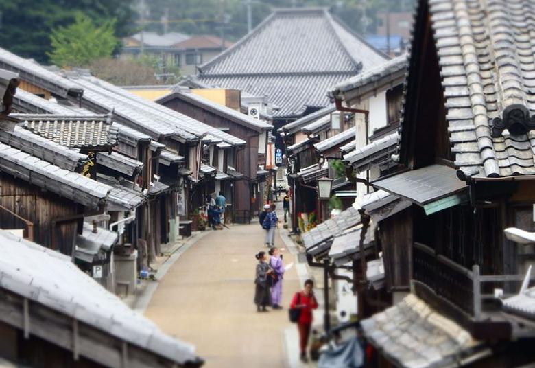 東海道の宿場町に残る街並み